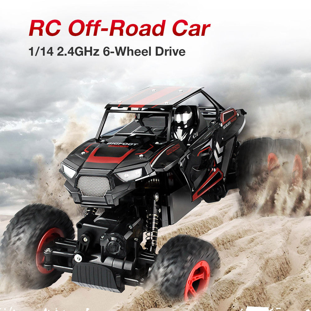 D819 1/14 2.4GHz 6WD RC Rock Crawler Buggy Climbing Off-Road Car Truck Kids Toy