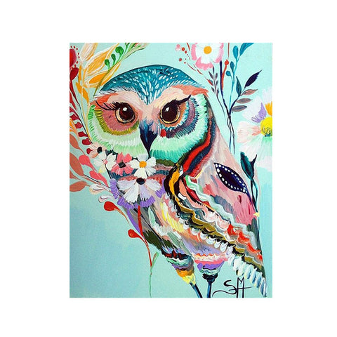 Owl DIY 5D Diamond Embroidery Painting Cross Stitch Crafts Home Wall Decor