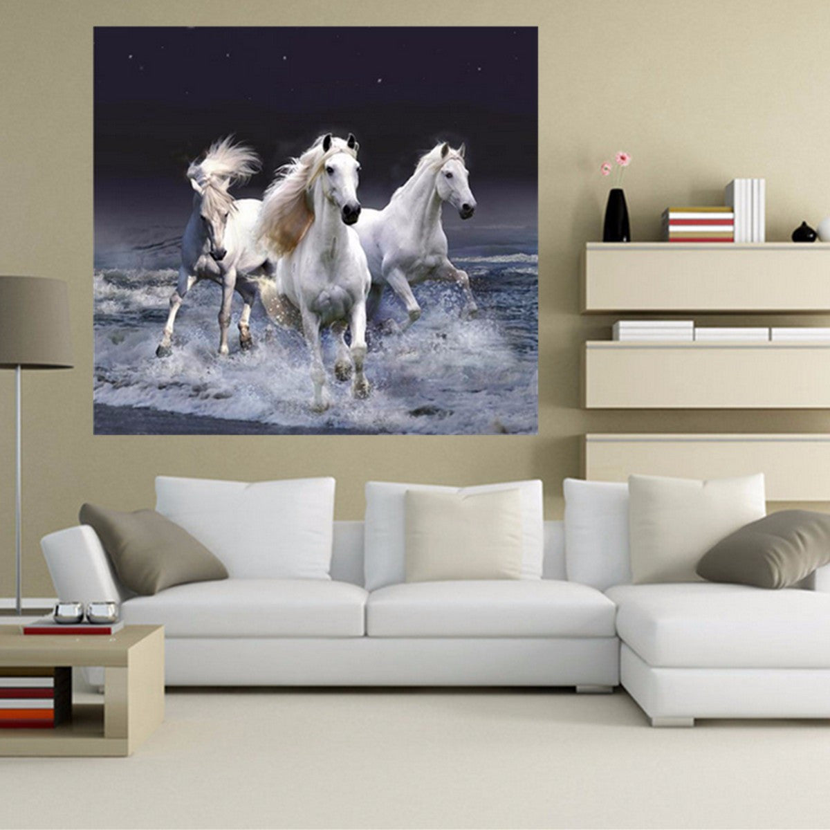 5D Diamond Horse Embroidery Painting Cross Stitch Craft Kit Home Wall Decor DIY