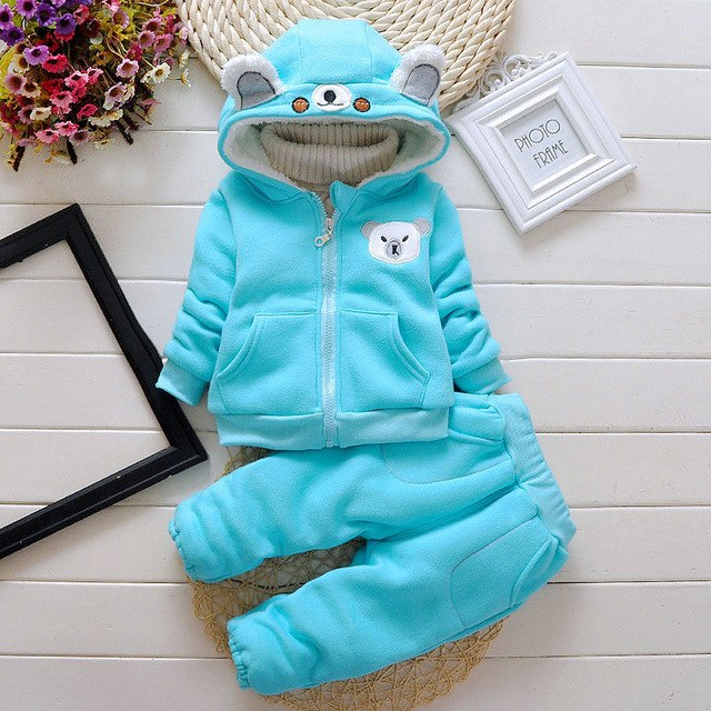 boys clothing sets autumn winter kids boys thick warm velvet clothes sets cartoon sport suit for children boys fleece tracksuit