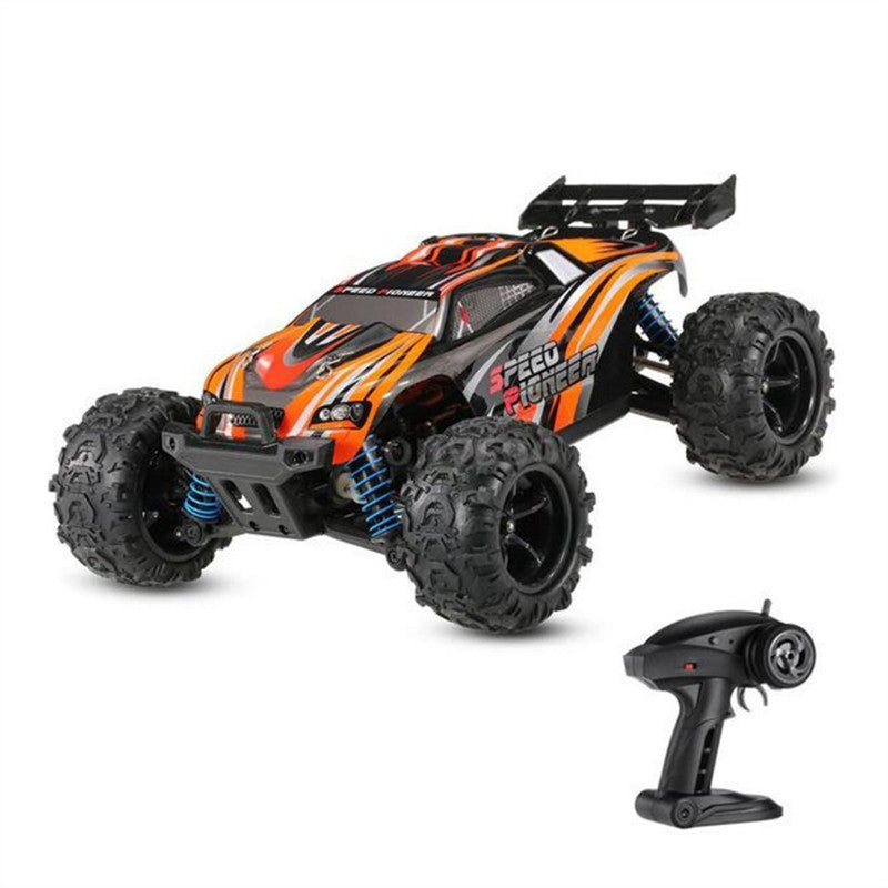 RC Electric Racing Car NO.9302 Speed Pioneer 1/18 2.4GHz 4WD Off-Road Truggy High Speed RC Racing Car RTR (Orange)