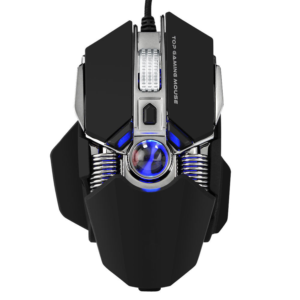 Wired Gaming Mouse 2750DPI Professional 9Buttons RGB LED Optical Mice For PC