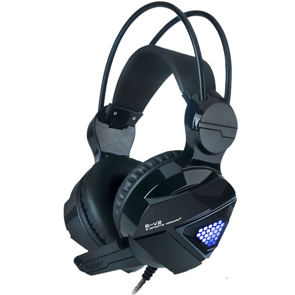 Cool Computer Noise Reduction Headset Gaming Headset 7.1 Channels Single U Interface LED Light Changing Mic Earphone