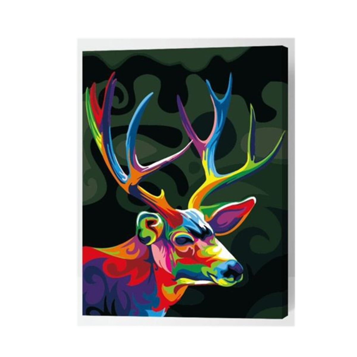 Painting by Numbers Kit Moose Mascot Deer Wild Animal DIY Paint Wood Frame 40x50