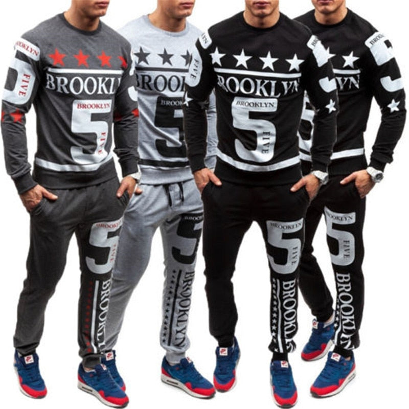 US Men Tracksuit Jogging Hoodies Coat Jacket+Trouser Pants Sports Sweat Suit Set