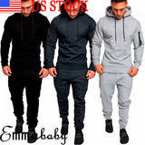 New Fashion Hot Popular Mens Tracksuit Top Bottom Sport Jogging Sweat Suit Trousers Pant Hoodie Coat