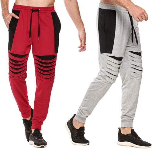 Mens Slim Fit Sports Gym Pants Jogging Running Trousers Tracksuit Sweatpants CA