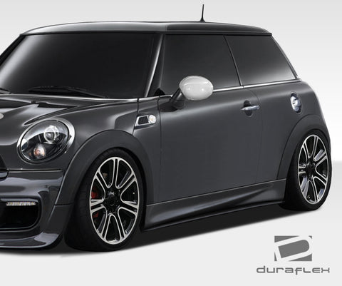 For 07-13 Duraflex R56 R57 R58 R59 DL-R Side Skirts Rocker Panels 2 Pc Mini Cooper #108447