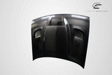 For 2008-2019 Dodge Challenger Carbon Creations Hellcat Look Hood - 1 Piece #112475