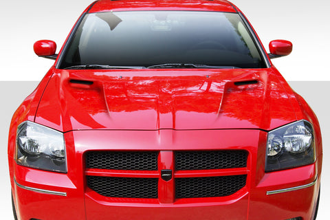 Duraflex Challenger Look Hood - 1 Piece for 2005-2007 Dodge Magnum  #112770