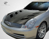 For 2003-2004 Infiniti G Sedan G35  Carbon Creations DriTech AM-S Hood - 1Pc  112969