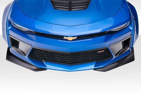 Duraflex Grid Front Splitters - 2 Pc for 2016-2018 Chevrolet Camaro V8  #113016