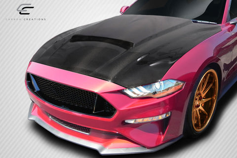 For 2018-2019 Ford Mustang Carbon Creations- Carbon Fiber CVX Hood - 1 Piece #115010