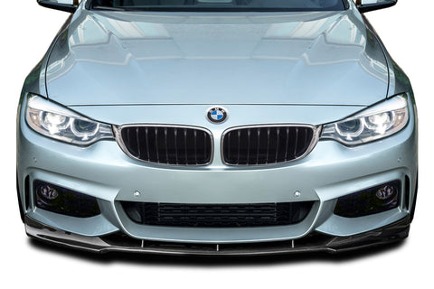 For 2014-20 BMW 4 Series M-Sport F32 Carbon Fiber Front Add On Lip Under Spoiler ( CFP ) #115061
