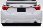 Duraflex Zeta Rear Diffuser - 1 Piece for 2014-2016 Corolla Toyota  #115074