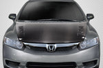 Fits 2006-2011 Honda Civic 4DR Carbon Fiber Creations Type M Hood 1Pc  #115131