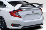 For 2016-2019 Honda Civic 4DR Duraflex Type R Look Wing Spoiler - 3 Piece  #115186