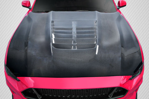 For 2018-2020 Ford Mustang Carbon Creations GT500 V2 Hood - 1PC Carbon Fiber  115202
