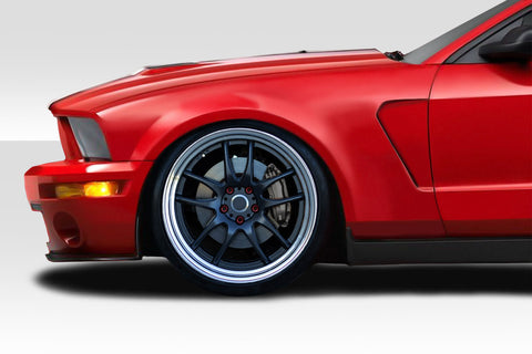 Duraflex GT350 V2 Look Front Fenders - 2 Piece for 2005-2009 Mustang  #115269