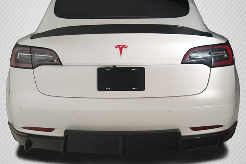 For 2018-20 Tesla Model 3 Carbon Fiber GT Concept Rear Wing Spoiler -1Pc  115472