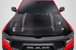 Fits 2019-2020 Dodge Ram Carbon Fiber Rebel Mopar Look Hood  #115480