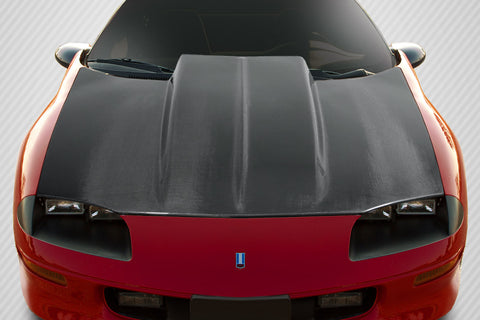 For 1993-1997 Chevrolet Camaro Carbon Fiber Cowl Hood - 1 Piece   #115520