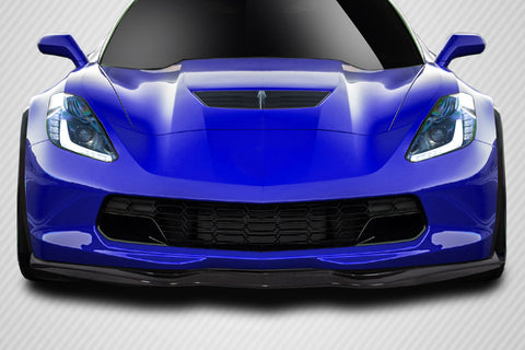 For 2014-19 Chevrolet Corvette C7 Carbon Fiber  GMX Front Lip Splitter  #115524