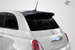 Fits 2012-2017 Fiat 500 Carbon Fiber Abarth Look Roof Wing Spoiler - 1 Piece #115624