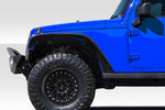 Fits 2007-2018 Jeep Wrangler Duraflex Rugged Front Fenders - 2 Piece   #115644
