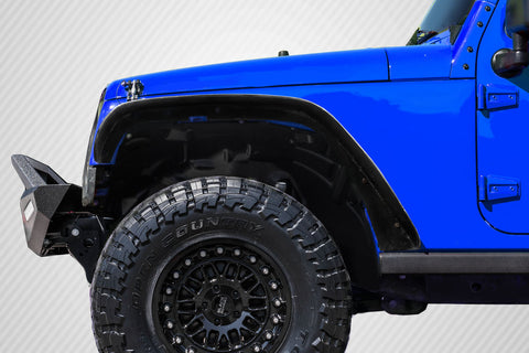 Fits 2007-2018 Jeep Wrangler Carbon Fiber Rugged Front Fenders - 2 Piece #115680