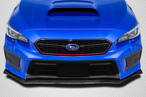 Fits 2018-2020 Subaru WRX STI Carbon Fiber V Limited Look Front Lip Splitter  #115743