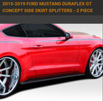 For 2015-2019 Ford Mustang Duraflex GT Concept Side Skirt Splitters - 2 Piece. Item #112233