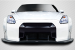 For 2009-2016 Nissan GT-R R35 Carbon Creations LBW Front Splitter - 1 Piece Item # 113507