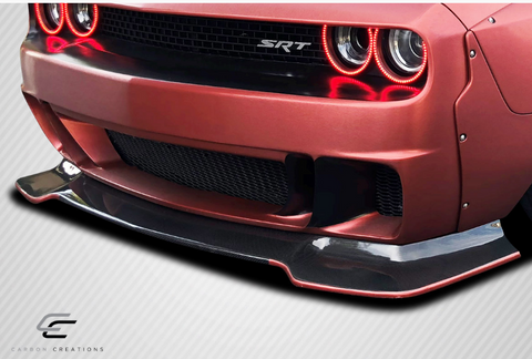 For 2008-2019 Dodge Challenger Carbon Creations Circuit Front Lip - 1 Piece Item#113893