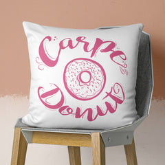 Carpe Donut Pillow with Pink Colors by Brandless Artist