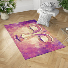Gold and Purple Buddha Rug by Brandless Artist