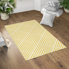 Bold Yellow Rug by Brandless Artist