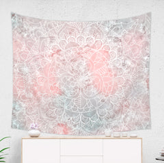 Pink Mandala Tapestry by Brandless Artist