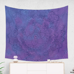 Purple Wall Tapestry by Brandless Artist
