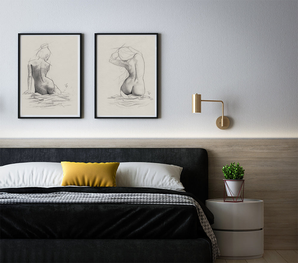 Nude Wall Art Above Bed - How to Decor your Bedroom | Brandless Artist