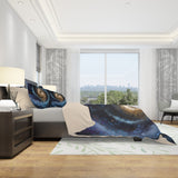 galaxy duvet cover set in bedroom