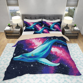 Whale Bedding Set - Neon Duvet Cover | Brandless Artist