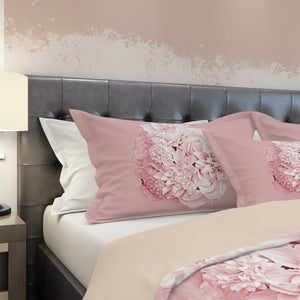 pink floral pillow shams