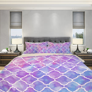 Purple Moroccan Bedding Set