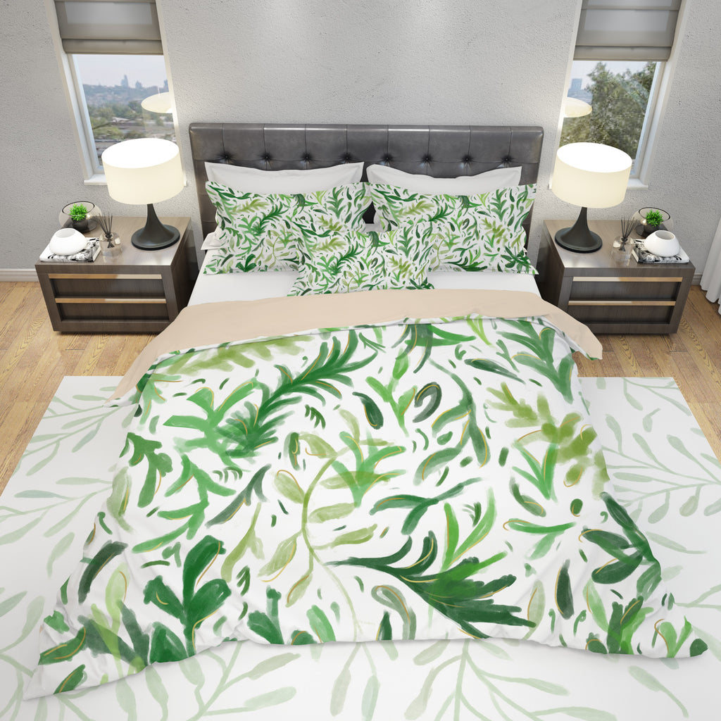 Leaf Pattern Bedding Set | Brandless Artist