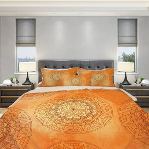 Orange Mandala Bedding Set - Orange Duvet Cover | Brandless Artist