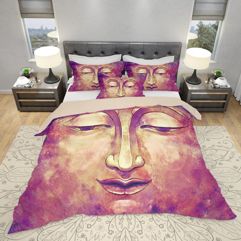 Pink Buddha Bedding Set - Spiritual Duvet Cover Set | Brandless Artist