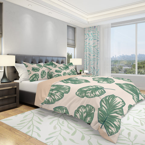 Palm Leaf Duvet Cover - Tropical Bedding Set | Brandless Artist