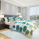 Wet Paint Bedding Set - Green Blue Bedding Set - Brush Stroke Duvet Cover Set | Brandless Artist