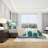 Brush Stroke Pattern Bedding - Green Blue Bedding Set | Brandless Artist